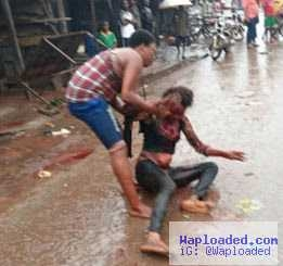 Photos: Two drunk prostitutes fight bloody in Imo state